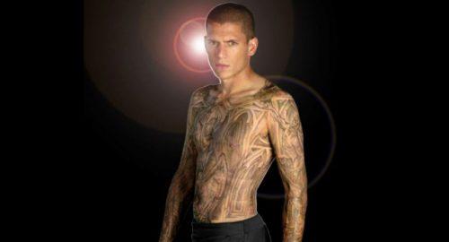 Imagen promo de Prision Break con los nuevos tatuajes de Wenworth Miller