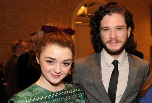 Maisie Williams  y Kit Harington hablan de lo nuevo de Game of Thrones