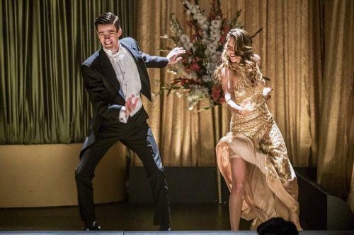 Fotos del crossover musical de The Flash y Supergirl