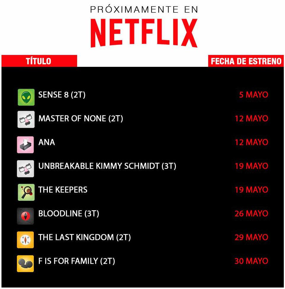 Conoce las series que estrenará Netflix en mayo de 2017